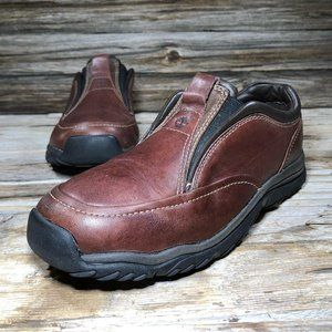 Timberland Brown Leather Slip On Shoes Kid 3